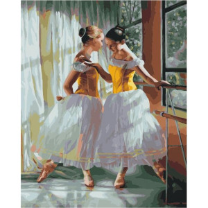 "GX21993 Картина по номерам ""В балетном классе"", 40х50 см"