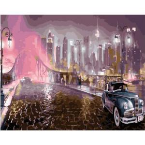 """GX21996  Картина по номерам """"Ретро автомобиль"""", 40х50 см"""
