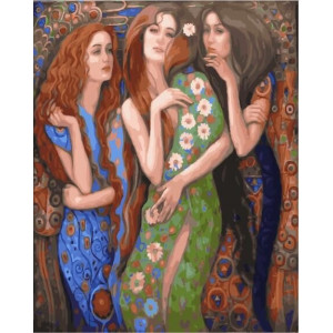 "GХ23264 Картины по номерам ""Три девушки"", 40х50 см"