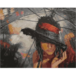 "GX22001 Картина по номерам ""Скрываясь от дождя"", 40х50 см"