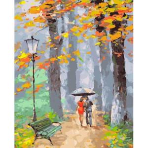 "GX22006 Картина по номерам ""Двое в осеннем парке"", 40х50 см"