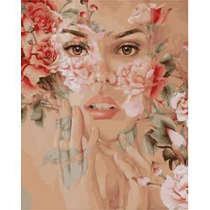 """GX22040 Картина по номерам """"Цветочные чувства"""", 40х50 см"""