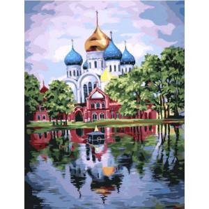 "GX22071 Картина по номерам ""Собор у озера"", 40х50 см"