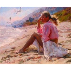 """GX22188 Картина по номерам """"На пляже"""", 40х50 см"""
