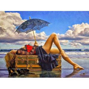 """GX22193 Картина по номерам """"Отпуск у океана"""", 40х50 см"""