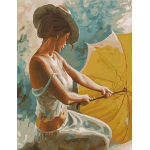 """GX22337 Картина по номерам """"Девушка с зонтиком"""", 40х50 см"""