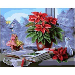 """GX22344 Картина по номерам """"Зимний вечер за окном"""", 40х50 см"""