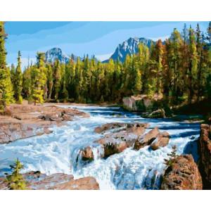 "GX22373 Картина по номерам ""Шум реки"", 40х50 см"