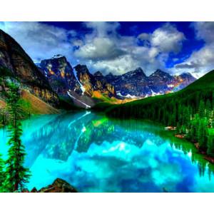Картина по номерам 40х50 GX 22815 Озеро Морейн