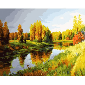 """GX23039 Картина по номерам """"Осенний пейзаж"""", 40х50 см"""