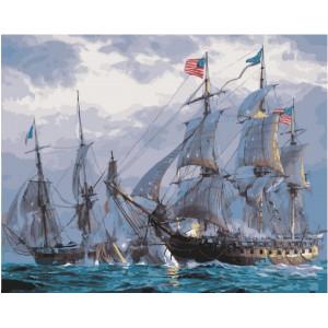 "GX23170 Картина по номерам ""Парусники в море"", 40х50 см"