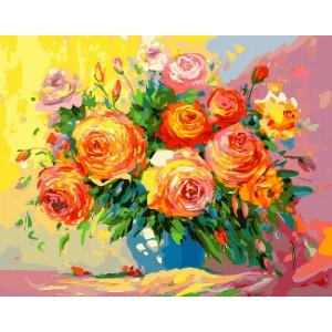 """GX23494 Картина по номерам """"Акварельные розы"""" , 40х50 см"""
