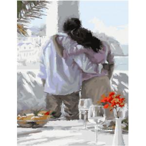 """GX23577 Картина по номерам """"Романтический завтрак у моря"""" , 40х50 см"""