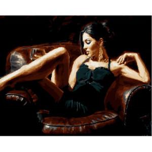 "GX23594 Картина по номерам ""Девушка в кресле"" , 40х50 см"
