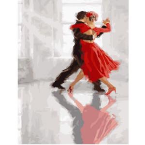 """GX23672 Картина по номерам """"Танго в красном"""",40х50 см"""