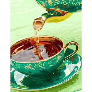 "GX23734 Картина по номерам ""Ароматный чай"" , 40х50 см"