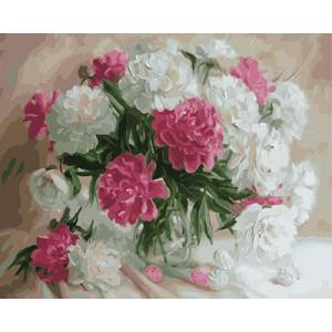 """GX23799 """"Белые и розовые пионы"""", 40х50 см"""