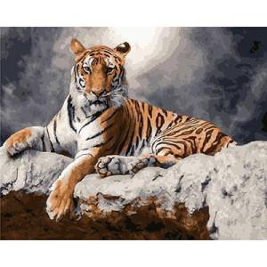 "GX23817 ""Тигр лежит под луной"", 40х50 см"