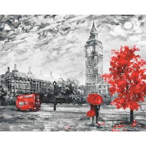 """GX23822 """"Красное дерево у Биг-Бена"""", 40х50 см"""