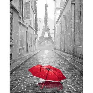 "GX23824 ""Красный зонт перед Эйфелем"", 40х50 см"