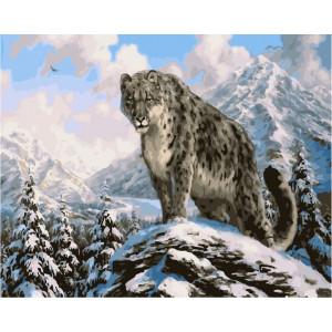 "GX23827 Картина по номерам ""Хозяин снежных вершин"", 40х50 см"