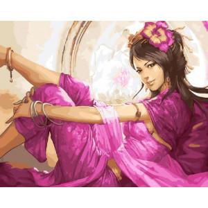 "GХ23862 Картина по номерам ""Девушка в лиловом"", 40х50 см"