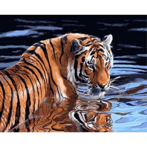 """GX23890 """"Тигр в воде"""", 40х50 см"""