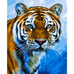 """GХ23996 Картина по номерам """"Амурский тигр"""", 40х50 см"""
