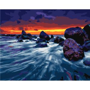 """GХ23998 Картина по номерам """"Каменистый берег"""", 40х50 см"""