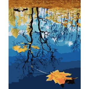 """GХ24035 Картина по номерам """"Отражение осени"""", 40х50 см"""