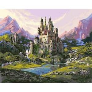 """GX24257 """"Замок в горах у реки"""", 40х50 см"""