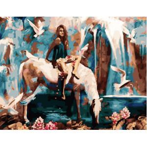 "GX24375 Картина по номерам ""На белом коне"", худ. Д.Милан,40х50 см"