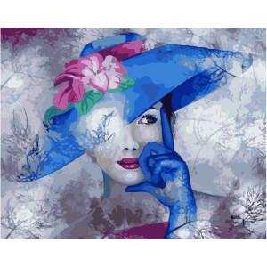 "GX24405 Картина по номерам ""Дама в синей шляпе"", 40х50 см"