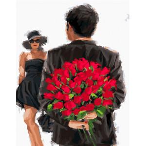 """GX24531 Картина по номерам """"Розы для любимой"""", 40х50 см"""