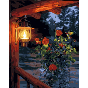 """GХ24548 Картина по номерам """"Ночной фонарь"""", 40х50 см"""
