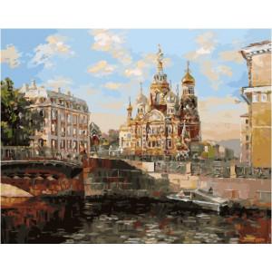 """GX24555 Картина по номерам """"Река возле храма"""", 40х50 см"""