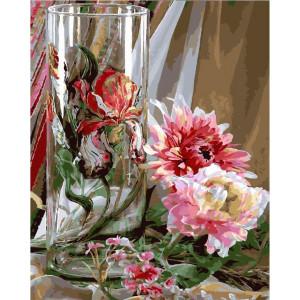 "GХ24721 Картина по номерам ""Натюрморт с бокалом и цветами"", 40х50 см"