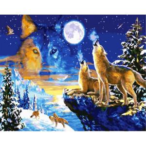 """GХ24728 Картина по номерам """"Встречая луну"""", 40х50 см"""