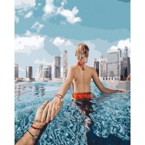 """GХ24911 Картина по номерам """"Следуй за мной.Сингапур."""", 40х50 см"""