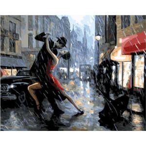 """GX25098 Картина по номерам """"Танго под дождем"""", 40х50 см"""
