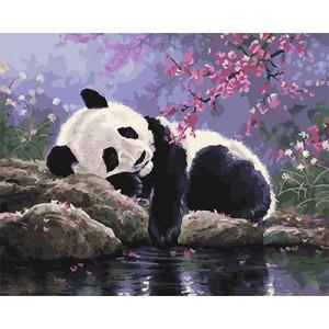"""GX25108 """"Панда спит"""", 40х50 см"""