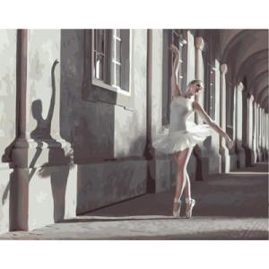 """GX25124 """"Балерина в городе"""", 40х50 см"""