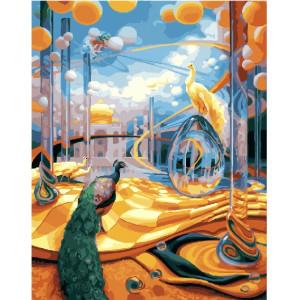 "GX25181 Картина по номерам ""Фантазия с павлинами"", 40х50 см"
