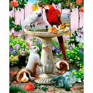 Картина по номерам 40х50 GX 25210 Встреча у фонтана