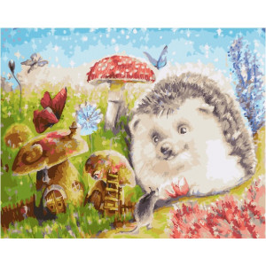 "GX25213 Картина по номерам ""По грибы"", 40х50 см"