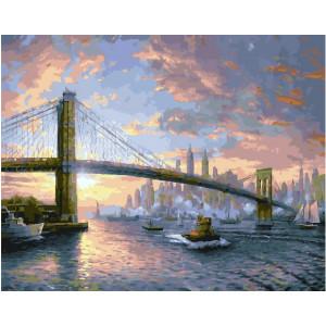 """GX25269 Картина по номерам """"Вечерний Бруклин"""", 40х50 см"""