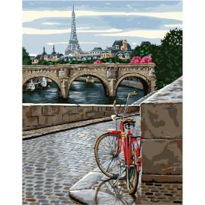 "GX25287 Картина по номерам ""Велопрогулка по Парижу"", 40х50 см"