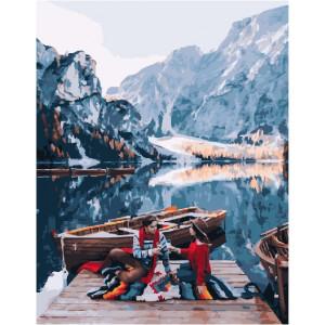 """GX25403 Картина по номерам """"Романтика у горного озера"""", 40х50 см"""