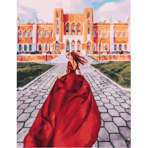 """GX25424 Картина по номерам """"Следуй за мной.Красное платье"""", 40х50 см"""