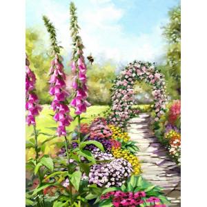 """GX25511 Картина по номерам """"Тропинка вдоль цветов"""", 40х50 см"""